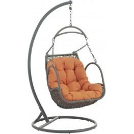 Arbor Orange Outdoor Patio Wood Swing Chair