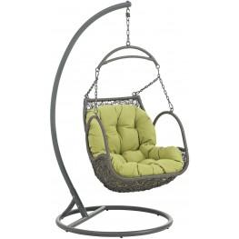 Arbor Peridot Outdoor Patio Wood Swing Chair