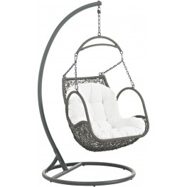 Arbor White Outdoor Patio Wood Swing Chair