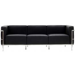 Le Corbusier LC3 Sofa in Genuine Black Leather