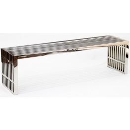 Gridiron Large Stainless Steel Bench