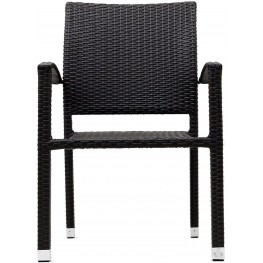 Bella Outdoor Rattan Dining Chairs in Espresso