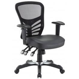 Articulate Black Vinyl Office Chair