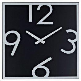 Schoolhouse Black and White Wall Clock