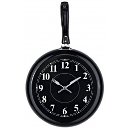 Pan Black Wall Clock