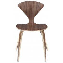 The Vortex Chair Stacking Chair in Dark Walnut