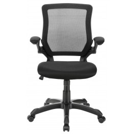 Veer Office Chair with Mesh Back and Mesh Fabric Seat in Black