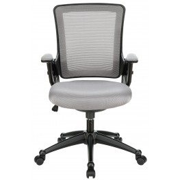 View Office Chair with Mesh Back and Gray Padded Seat