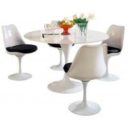 Lippa Black 5 Piece Fiberglass Dining Set
