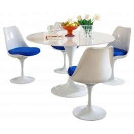 Lippa Blue 5 Piece Fiberglass Dining Set
