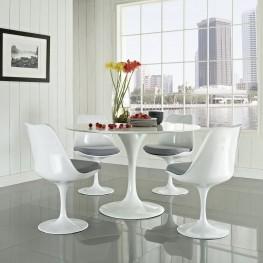 Lippa Gray 5 Piece Fiberglass Dining Set