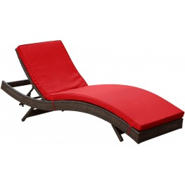 Peer Red Outdoor Patio Chaise