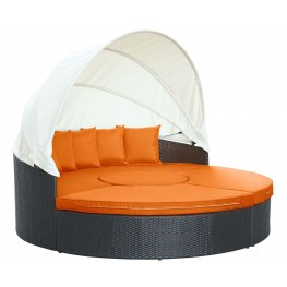 Quest Orange Canopy Outdoor Patio Daybed