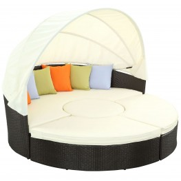 Quest White Canopy Outdoor Patio Daybed