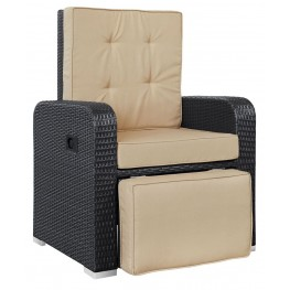Commence Mocha Patio Outdoor Patio Armchair Recliner