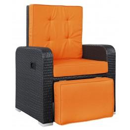 Commence Orange Patio Outdoor Patio Armchair Recliner