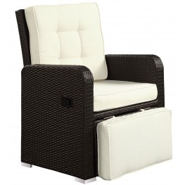 Commence White Patio Outdoor Patio Armchair Recliner