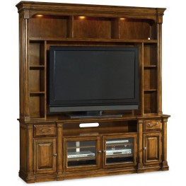 Tynecastle Brown 2 Piece Entertainment Center