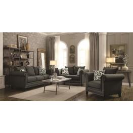 Emerson Charcoal Living Room Set