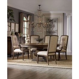 "Rhapsody Brown 60"" Round Dining Room Set"