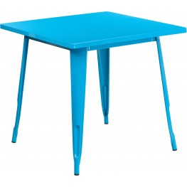 31.5Inch Square Crystal Blue Indoor-Outdoor Table (Min Order Qty Required)