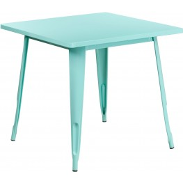 31.5Inch Square Mint Green Indoor-Outdoor Table