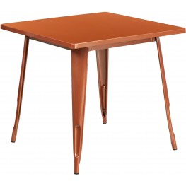 31.5Inch Square Copper Indoor-Outdoor Table (Min Order Qty Required)