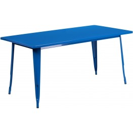 63Inch Rectangular Blue Indoor-Outdoor Table (Min Order Qty Required)