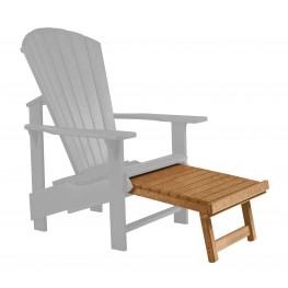 Generations Cedar Upright Adirondack Chair Pull Out Footstool