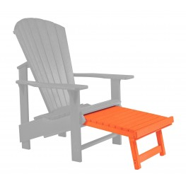 Generations Orange Upright Adirondack Chair Pull Out Footstool