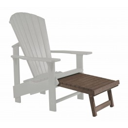 Generations Chocolate Upright Adirondack Chair Pull Out Footstool