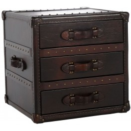 General Toberlone Leather Drawers End Table
