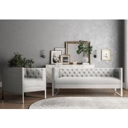 Farah Light Gray Living Room Set
