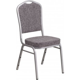 HERCULES Series Crown Back Herringbone Fabric Stacking Banquet Chair