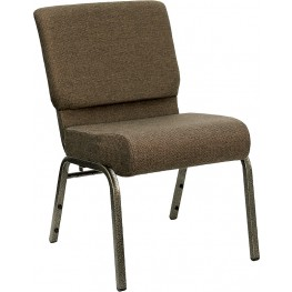 21'' Extra Wide Brown Hercules Church Chair with 4'' Thick Seat