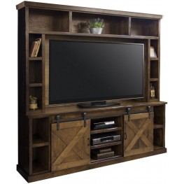 Farmhouse Brown Entertainment Center