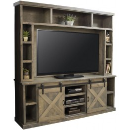 Farmhouse Brushed Nickel Entertainment Center