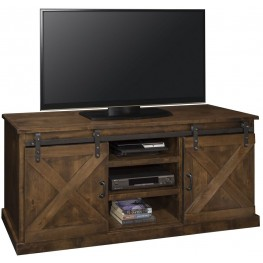 "Farmhouse 66"" Brown TV Console"