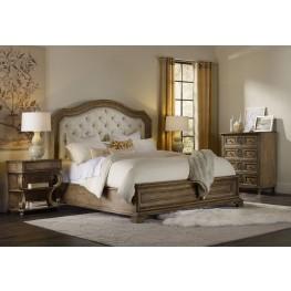 Solana Beige Upholstered Panel Bedroom Set
