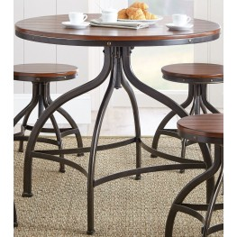 fiona 36 round metal swivel dining table from steve silver fl3636pt