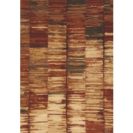 Flint Red/Tan Abstract Stripes Medium Rug