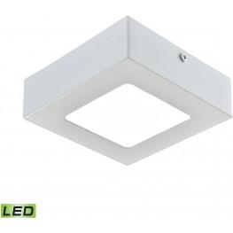 Warwick Matte White 1Small Light Square LED Flushmount
