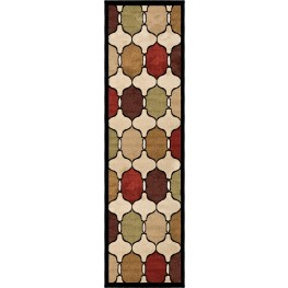 "Four Seasons Hourglass Jet Black Runner 96"" Rug"