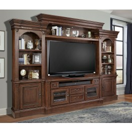 Franklin Vintage Umber 4Pc Entertainment Wall