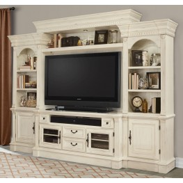 Fremont Antique Burnished White 4Pc Entertainment Wall