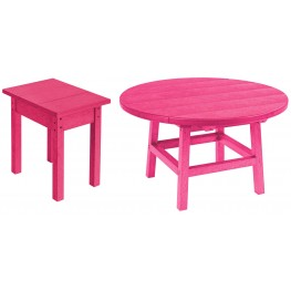 "Generations Fuschia 32"" Round Occasional Table Set"