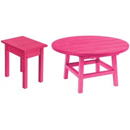 "Generations Fuschia 37"" Round Occasional Table Set"