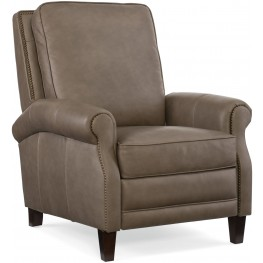 Falston Beige Leather Recliner