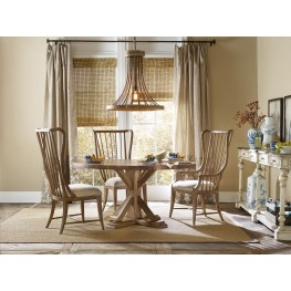 Sanctuary Brown Copper Round Dining Room Set