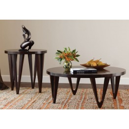 Georgetown Walnut Round Occasional Table Set